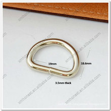 """3/4"""" metal d ring in shiny nickel color"""