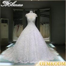 2017 Chins fournisseur sweetheart longue dentelle cathédrale loyale train robe de mariée pour mariage