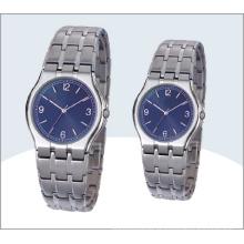 Aço inoxidável par de relógios e relógio de quartzo 15192