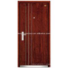 Porte blindée en bois d'acier insonorisée personnalisée en usine, avec cadre de porte épais anti-vol