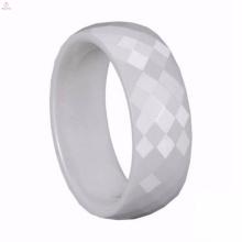 Customized Big White Ceramic Ring Jewelry Manufacturer