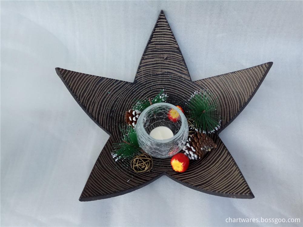 wooden candlesticke