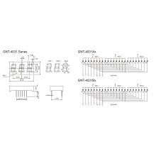 0,4 Zoll 3 Digit 7 Segmentanzeige (GNS-4031Ax-Bx)