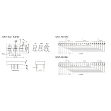 0,4 polegadas 3 dígitos 7 segmentos de exibição (GNS-4031Ax-Bx)