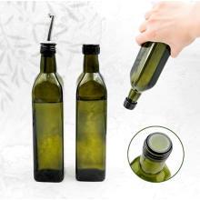 250ml 500ml 750ml 1000ml Classic Green Bordolese Marasca Olive Oil Glass Bottle