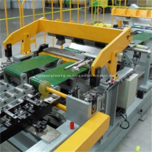 Línea de producción de laminado y perfilado del panel lateral del refrigerador