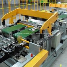 Painel lateral do refrigerador que rola e que forma a linha de produção