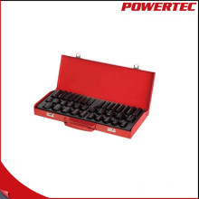 "Powertec 38PC 1/2 ""Dr. & 3/8"" Dr. Impact Socket Wrench Set"