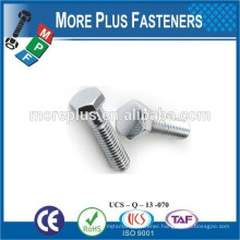 Made in Taiwan high quality stainless steel hexagon bolt hex head bolt