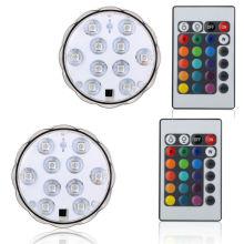 Décoration de table de mariage Lumière de batterie de LED Lumière imperméable à l'eau de lumière submersible de LED avec à télécommande