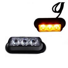 Luz intermitente auto de emergencia del lado del automóvil de 3LED Luz de luz estroboscópica ámbar del coche de seguridad 3