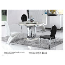 Professional Round Table with Marble/Glass