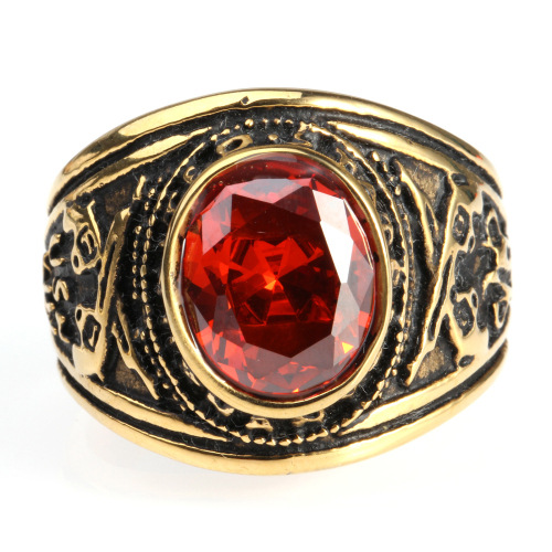 Diamond Semi-Precious Stone Ring