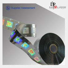 Customize LOGO Hologram fixed position hot stamping label for clothing, LOGO size 25*25mm, material 40mm*150m one roll