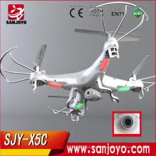 SYMA TOP SALE & POPULAR: 2.4G 4CH RC FLYING MODELO UFO / RADIO CONTROL DRONE CON CÁMARA HD PARA FOTOGRAFÍA AÉREA SJY-SYMA-X5C-1
