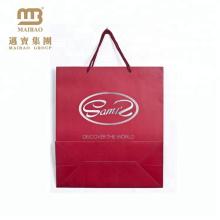 Billige kundenspezifische gedruckte Kleinkleiderverpackungs-Eurogriff-Einkaufspapiertüte