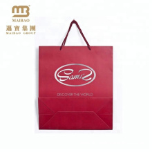 Cheap Custom Printed Retail Apparel Packaging Euro Handle Shopping Paper Bag