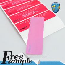 Etiqueta de seguridad de papel de impresión personalizada para envases de comida rápida