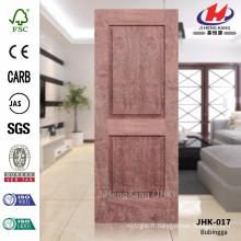 JHK-017 Bonne conception Deux panneaux MDF Materail Bathroom Project Feuille de porte en palissandre de haute qualité