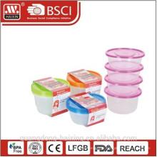Recipiente de alimento plástico 1L (4pcs)