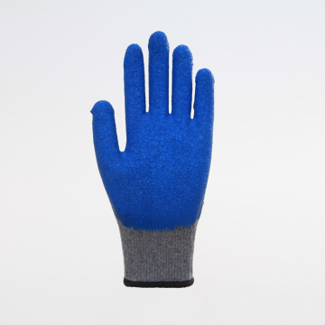 Polyester Liner with Latex Coated Safety Gloves