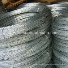 Fil de fer galvanisé et fil de fer d'acier et fil de cravate de renfort