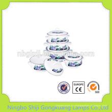 5 piezas de sopa de moka enamelware
