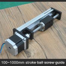 Carril de guía del obturador de aluminio del tornillo de la bola de alta precisión G1605 con el motor de pasos integrado