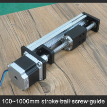Trilho de guia de alumínio do obturador do rolo do parafuso da bola G1605 da elevada precisão com o motor deslizante integrado