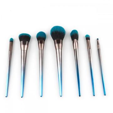 7 Pieces Crystal Handle Kabuki Makeup Brush Set