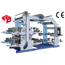 Máquina de impresión flexográfica de cuatro colores de alta calidad