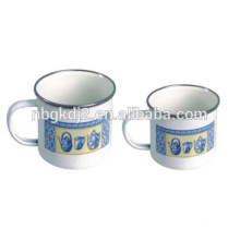 stainless steel 201/304 printed enamel camping mugs for drinking