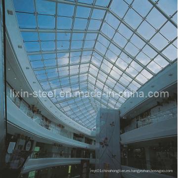 Estructura de techo de luz de acero para la claraboya del edificio