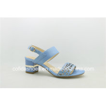 New Style Lady Low Heel Leather Sweet Sandal