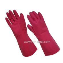 Gants de ménage sans latex Gant de travail de sécurité chimique en nitrile rose