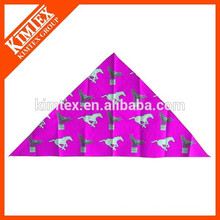 Fashion cheap unique printed brand triangle pet bandana