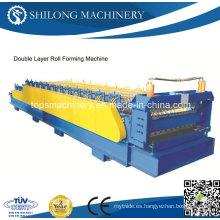 Doble capas de color de acero de azulejos de azulejos formando la máquina