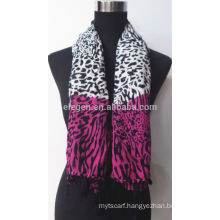 Leopard Fashion Rayon Printed Woven Scarf