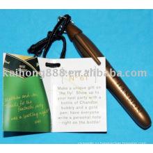 Золотая ручка маркер стекла с отверстием кольцо на голове