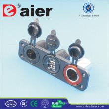 Daier 3-Gang-Panel montiert USB-gesteuerte Steckdose und Zigarettenanzünder-Stecker