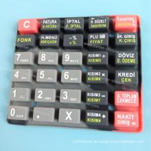 Benutzerdefinierte Siebdruck-Silikon-Gummi-Tastatur