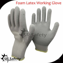 SRSAFETY 10G acrylic latex coated safety working gloves glove supplier
