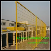La Chine fabriquent le meilleur panneau de clôture en métal portatif coloré de poudre de revêtement de prix de PVC
