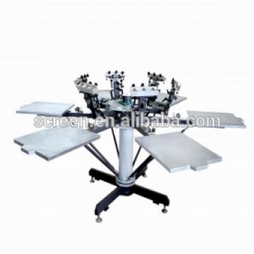 Handbuch 6 Farbe 6 Station T-Shirts Siebdruckmaschine