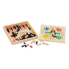 Juguete educativo de madera y juego de backgamon (CB2246)