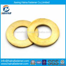 GB97 Rondelles plates en laiton, rondelle plate en cuivre ANSI B 18.22.1, ISO7089