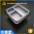 disposable food trays with lid 3 compartment