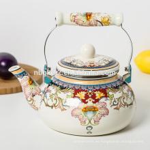 Tetera de agua de té de esmalte de alta calidad 2.3L con mango de baquelita