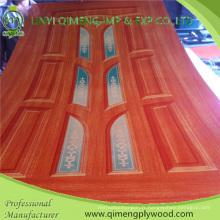 Contreplaqué de peau de porte de papier de polyester de 1.5-5.0mm avec le noyau de peuplier