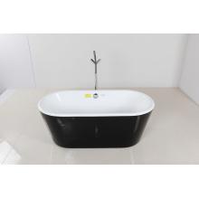 Bañera de pie acrílica de borde redondo